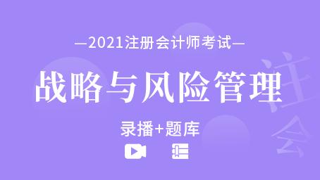2021年注册会计师-战略与风险管理(录播+题库)